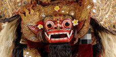 Barongfigur im Zentrum Balis